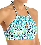 Tommy Bahama Ikat High Neck Cropped Swim Top TSW54203T