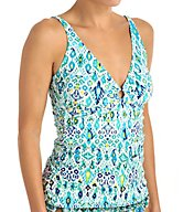 Tommy Bahama Ikat Over The Shoulder Tankini Swim Top TSW54205T