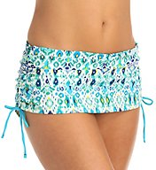 Tommy Bahama Ikat Side Shirred Skirted Hipster Swim Bottom TSW54213B
