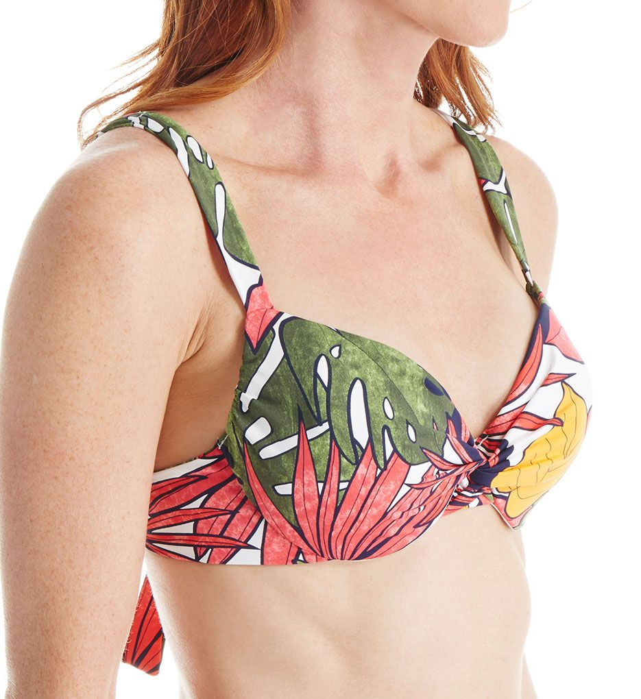 Tommy Bahama Remy Over The Shoulder Underwire Twist Swim Top TSW72001T