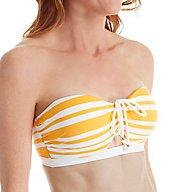 Tommy Bahama Sportif Stripe Underwire Bandeau Swim Top TSW72140T