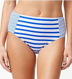 Tommy Bahama Beach Glass Stripe High Waist Brief Swim Bottom TSW80326B