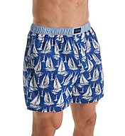 Tommy Hilfiger Yacht Club Sailboat Print Woven Boxer 09T3046