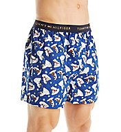 Tommy Hilfiger Holiday Print 100% Cotton Woven Boxer 09T3120