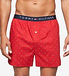 Tommy Hilfiger Micro Flag Basic100% Cotton Woven Boxer 09T3255