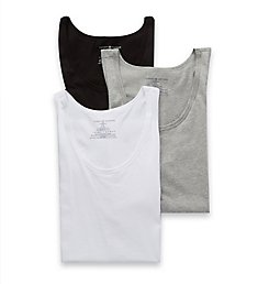 Tommy Hilfiger Cotton Classics Slim Fit Jersey Tanks - 3 Pack 09T3375