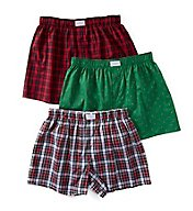 Tommy Hilfiger 100% Cotton Woven Boxers - 3 Pack 09TV045