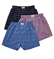 Tommy Hilfiger Printed Woven Boxers - 3 Pack 09TV055