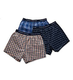Tommy Hilfiger Cotton Classics Slim Fit Woven Boxers - 3 Pack 09TV066
