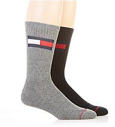 Tommy Hilfiger Large Flag Logo Crew Sock - 2 Pack 201CR86