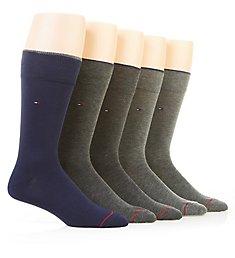 Tommy Hilfiger Solid Dress Crew Sock - 5 Pack 201DR23