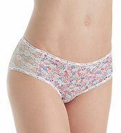 Tommy Hilfiger Cotton Logo Classic Hipster Panty with Lace R17T029