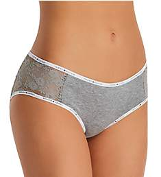 Tommy Hilfiger Cotton and Lace Hipster Panty R17T029