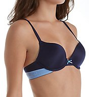 Tommy Hilfiger Signature Brushed Micro Push Up Plunge Bra R72T027