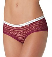 Tommy Hilfiger Geo Lace Logo Hipster Panty - 2 Pack R82T054
